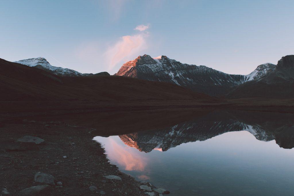 Mountain range at dawn